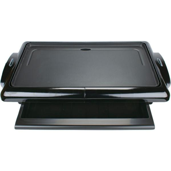 200 sq. in. Black Nonstick Electric Griddle