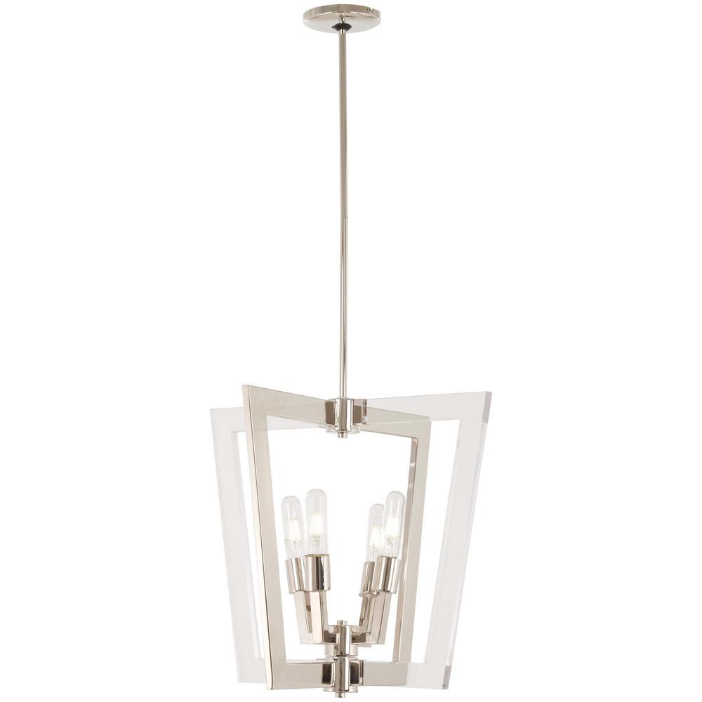 Crystal george kovacs pendant lights lighting the home depot crystal chrome 4 light polished nickel pendant aloadofball Choice Image