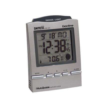 Radio Control Desk Alarm Clock with Month/Day/Date/Moon Phase