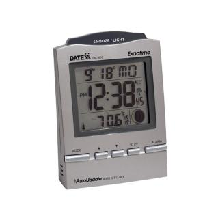 DATEXX Radio Control Desk Alarm Clock with Month/Day/Date/Moon Phase by DATEXX