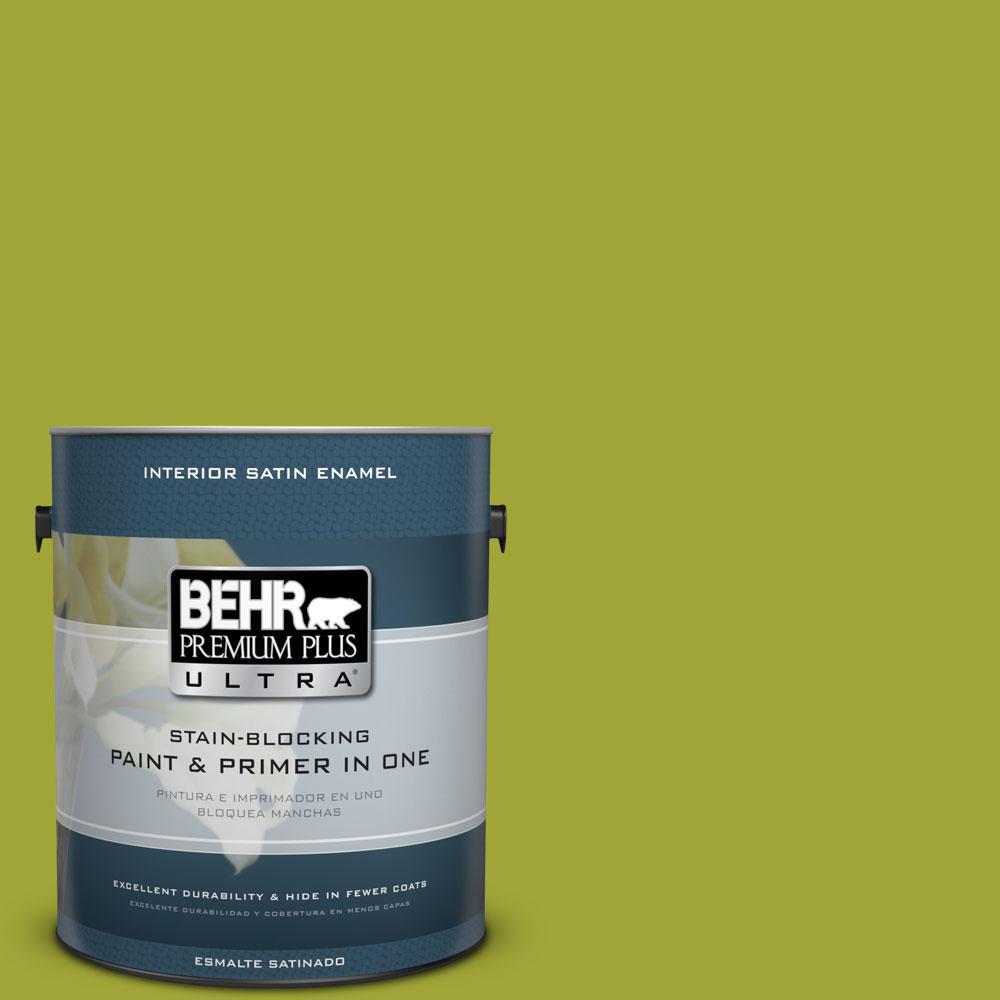 BEHR Premium Plus Ultra 1-gal. #S-H-400 Rolling Hills Satin Enamel Interior Paint