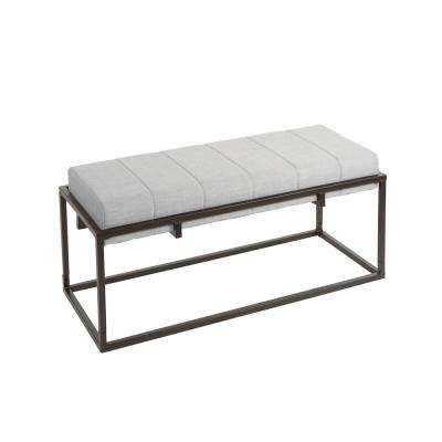Fable Gunmetal Gray Upholstered Bench