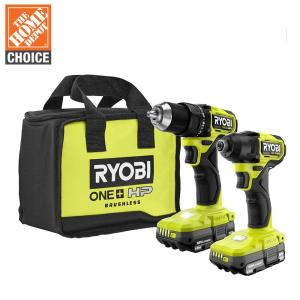 Deals on Ryobi One+ HP 18V Compact 1/2-In Drill and Driver Kit w/Batteries