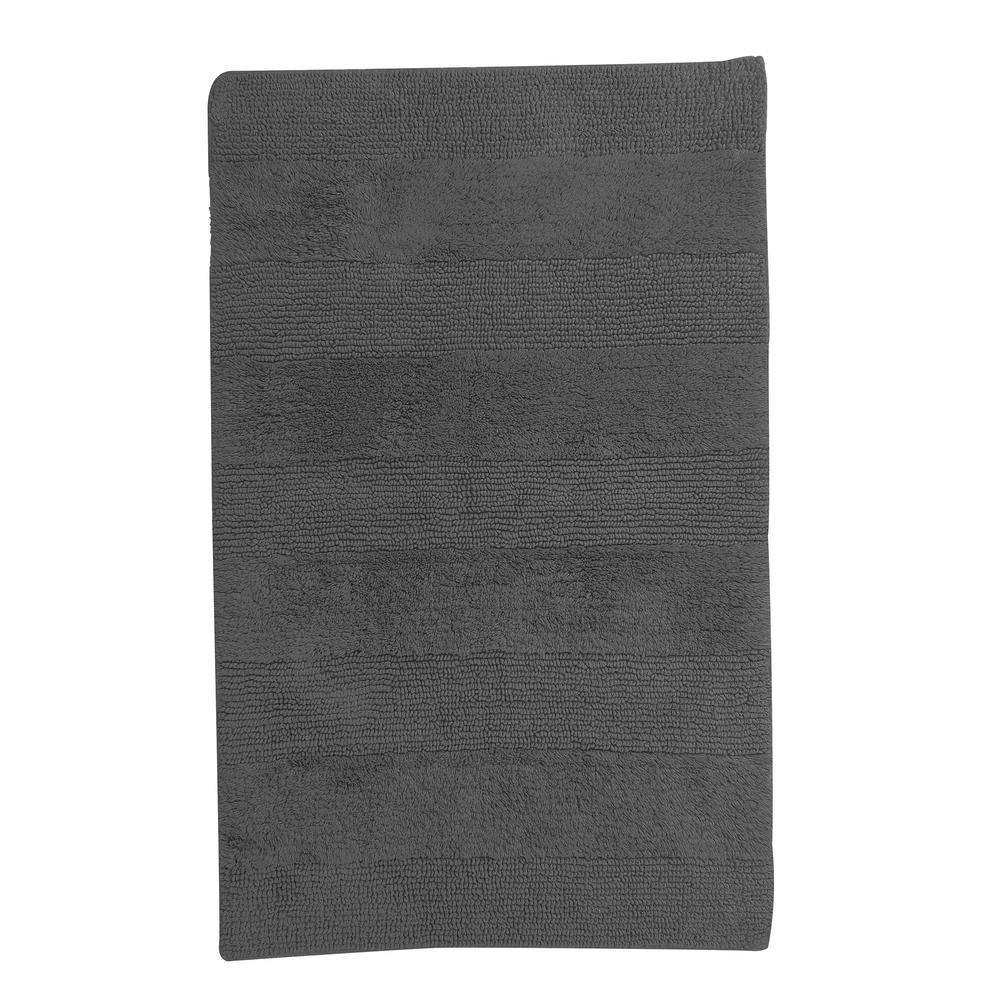 TheCompanyStore The Company Store Company Cotton Metal Gray 17 in. x 24 in. Reversible Bath Rug