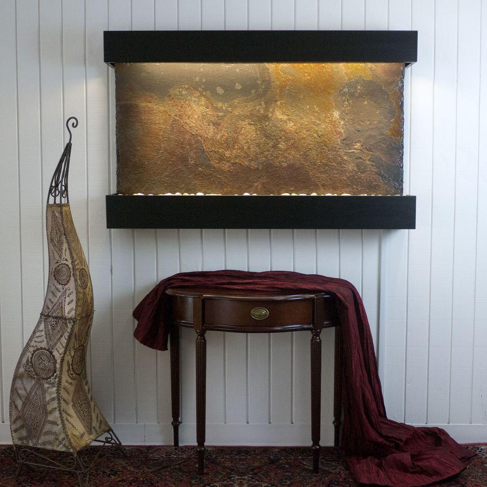 Classic Quarry Large Horizon Falls Rajah Slate with Black Onyx Trim Kit Fountain