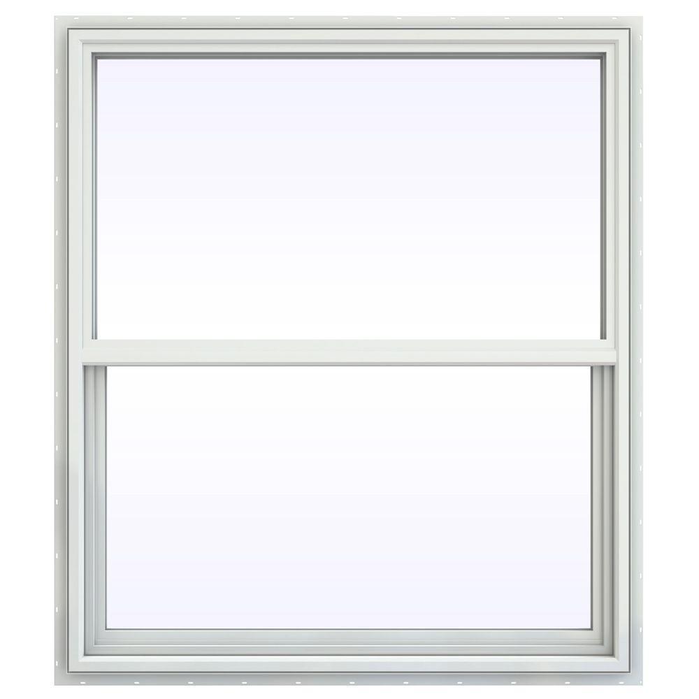 JELD-WEN 41.5 in. x 47.5 in. V-4500 Series Single Hung Vinyl Window - White