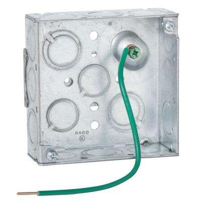 4 in. Square Welded Box, 1-1/2 Deep with 1/2 & 3/4 in. TKO's with Farside Support (50-Pack)