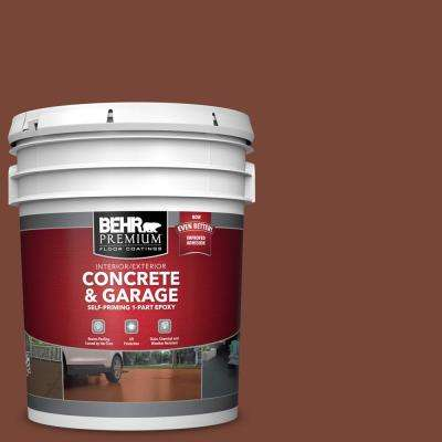 5 gal. #S200-7 Earth Fired Red Self-Priming 1-Part Epoxy Satin Interior/Exterior Concrete and Garage Floor Paint