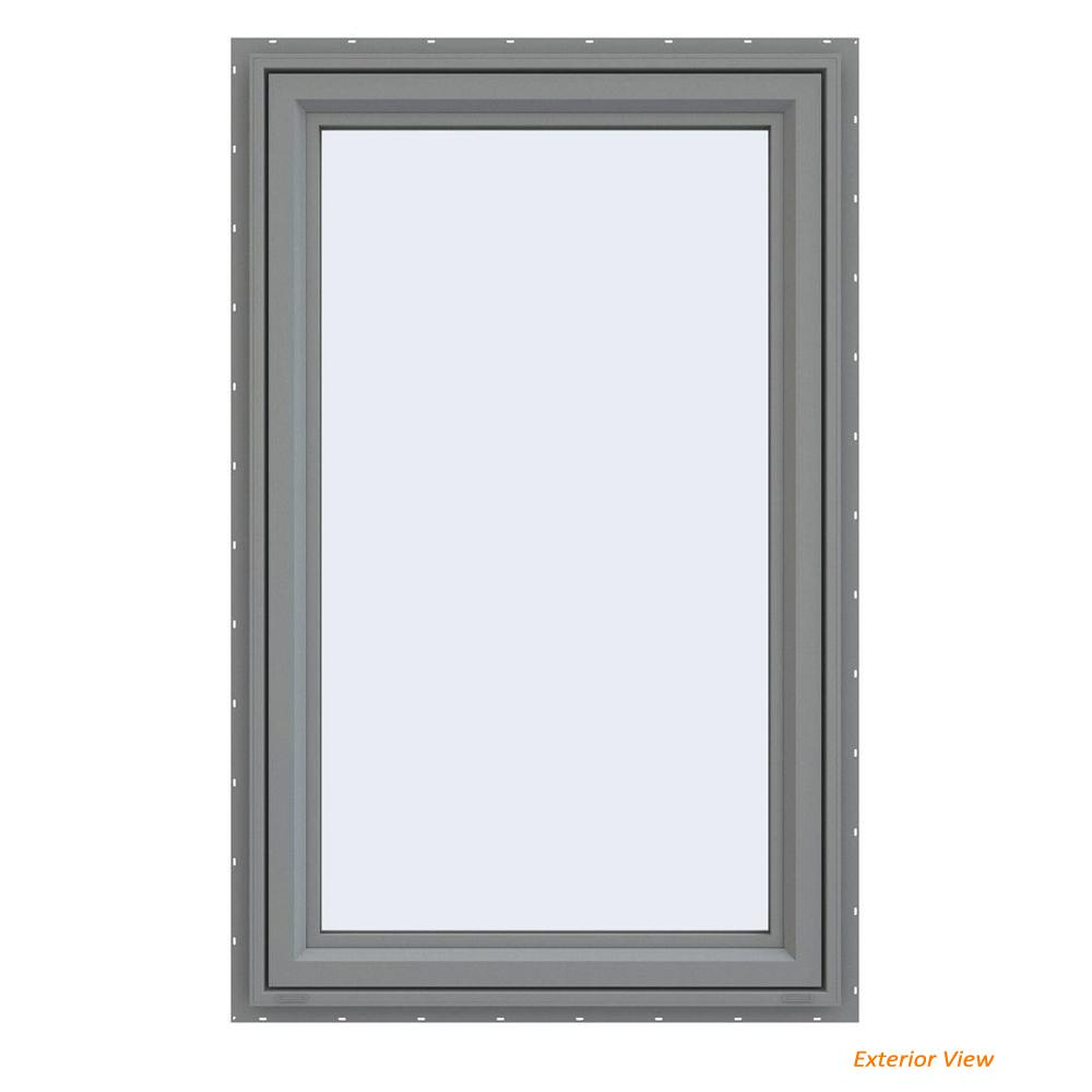 Jeld Wen 23 5 In X 35 5 In V 4500 Series Gray Painted