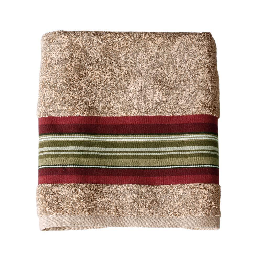 saturday knight madison stripe 25 in w x 50 in l cotton bath towel