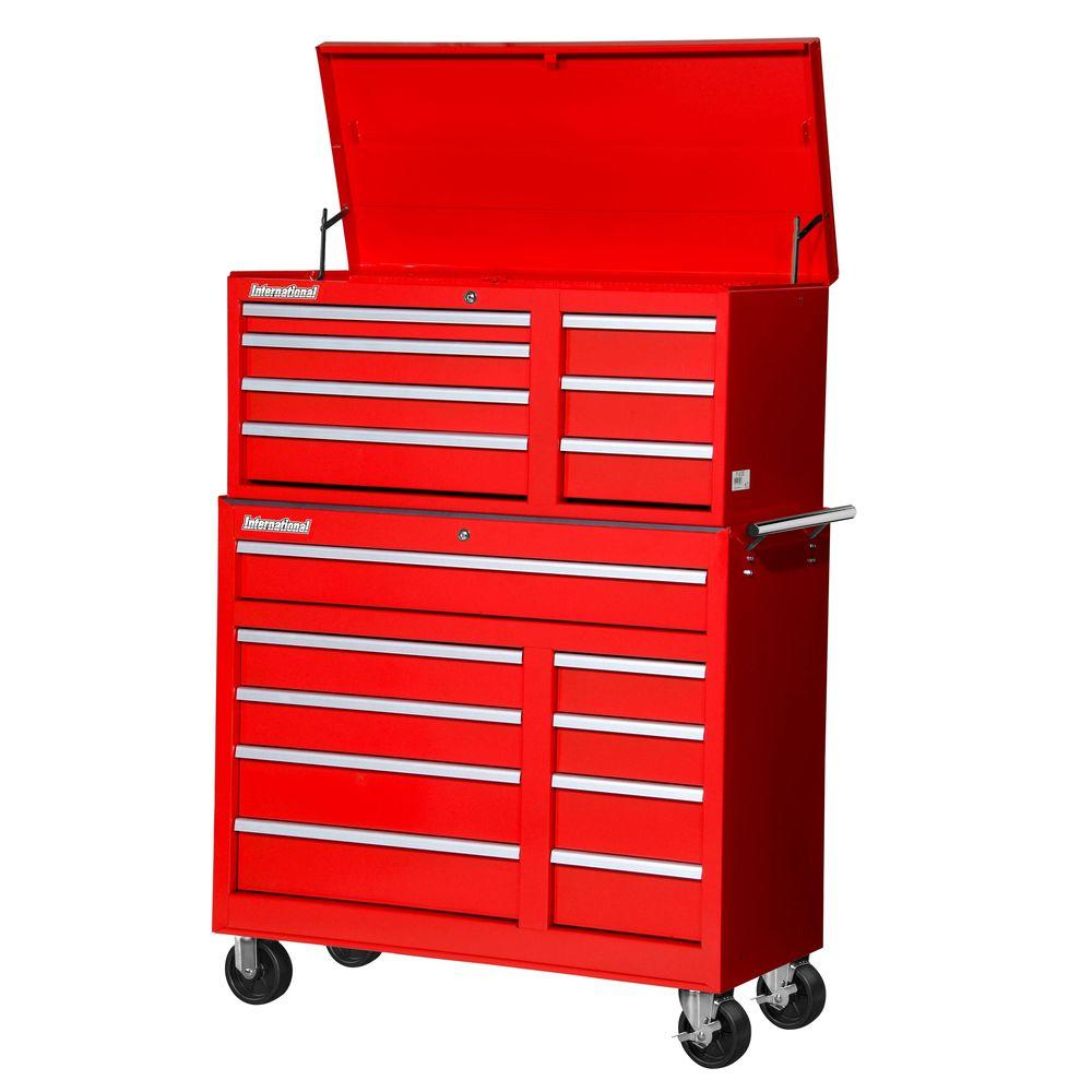 Workshop 42 in. 16-Drawer ToolSet, Red