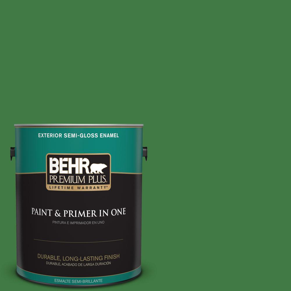 BEHR Premium Plus 1-gal. #M390-7 Hills of Ireland Semi-Gloss Enamel Exterior Paint