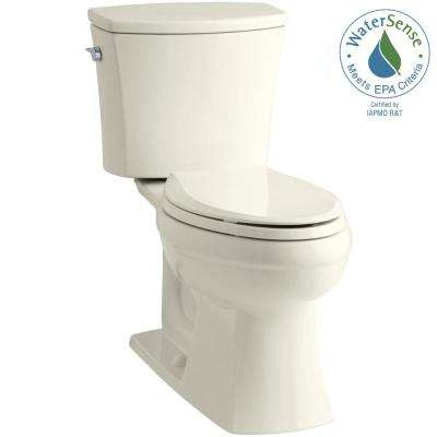 Kelston Comfort Height 2-piece 1.28 GPF Single Flush Elongated Toilet with AquaPiston Flushing Technology in Biscuit