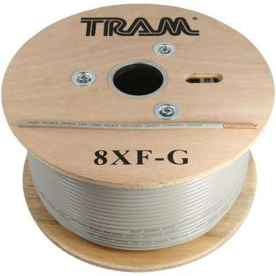 RG8X 500 ft. Roll Tramflex Double Shield Coaxial Cable with Gray Jacket