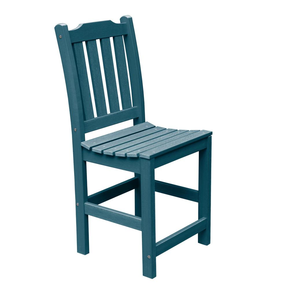 Groovy Highwood Lehigh Nantucket Blue Counter Height Armless Recycled Plastic Outdoor Dining Chair Pdpeps Interior Chair Design Pdpepsorg