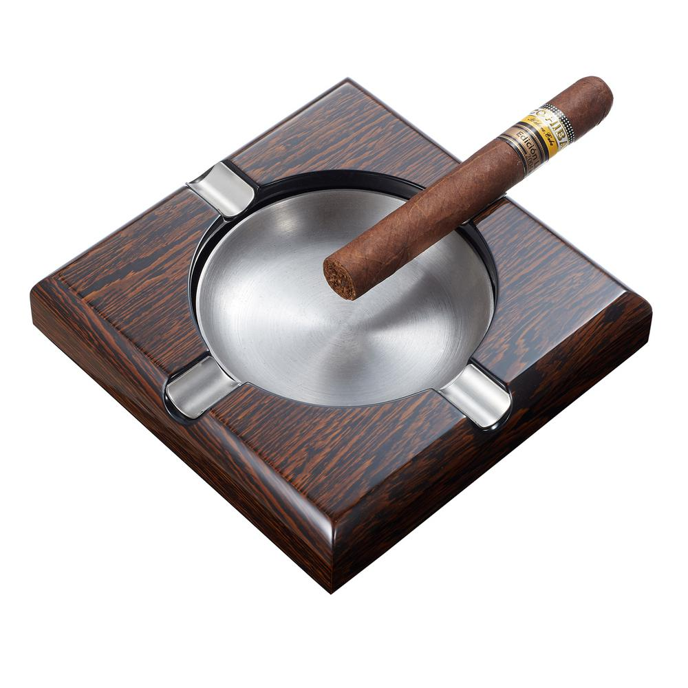 Brenton Polished Wood Ashtray