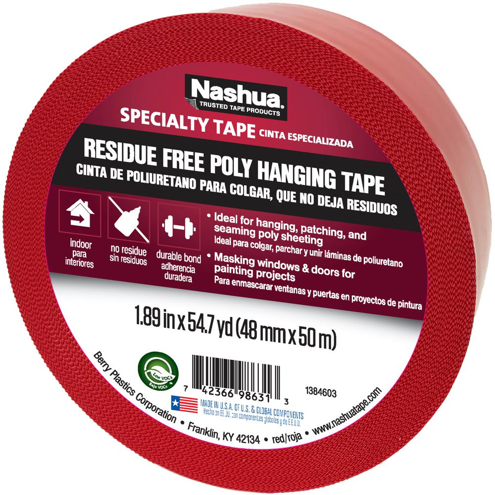 1.89 in. x 54.7 yd. Residue Free Poly Hanging Tape in