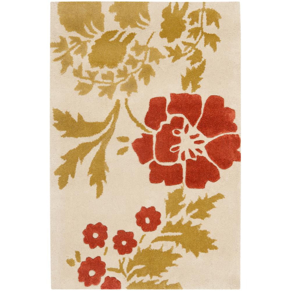 Capri Beige/Rust 3 ft. x 5 ft. Area Rug