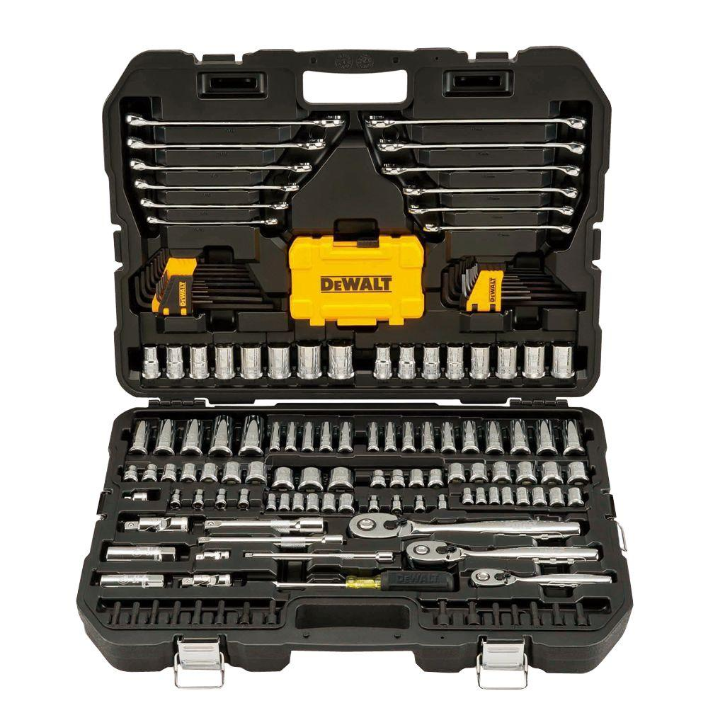 1/4 in. x 3/8 in. Drive Polished Chrome Mechanics Tool Set