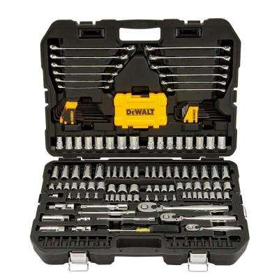 1/4 in. x 3/8 in. Drive Polished Chrome Mechanics Tool Set (168-Piece)