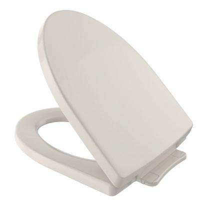 Soiree SoftClose Elongated Closed Front Toilet Seat in Sedona Beige