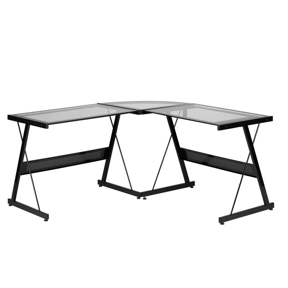 Black Solano L Desk