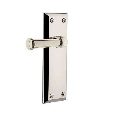 Fifth Avenue Plate Dummy with Georgetown Door Lever in Polished Nickel