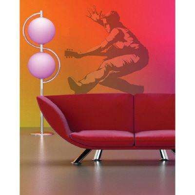 26 in. x 34 in. Guitar Guy Wall Decal