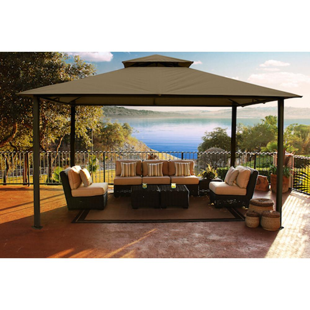 STC Paragon-Outdoor 11 ft. x 14 ft. Avalon Gazebo  sc 1 st  The Home Depot & STC Paragon-Outdoor 11 ft. x 14 ft. Avalon Gazebo-GZ584S - The ...