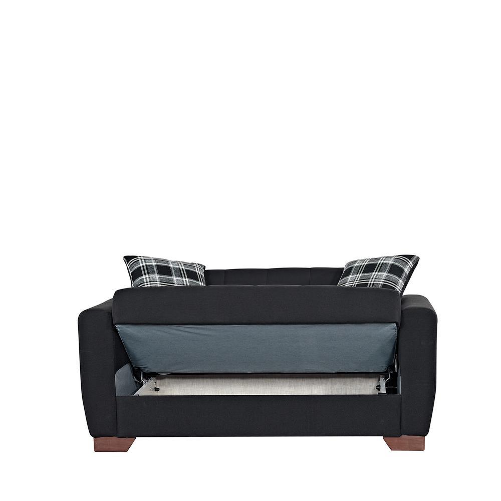 Black Ottomanson BAR-LS-FBLK Love Seats Loveseat