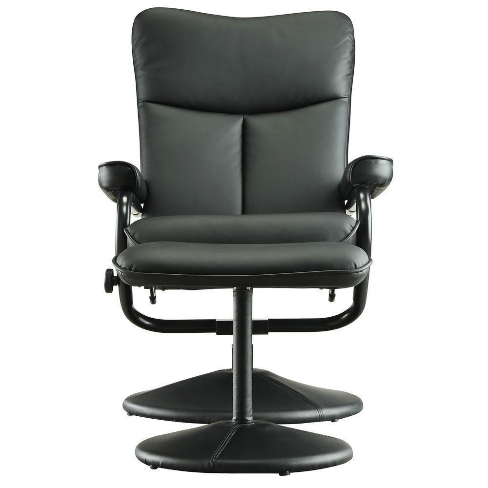 leather easy chair with ottoman homesullivan hawkins black faux leather swivel chair with 16623 | black homesullivan accent chairs 408555blk 13a 64 1000