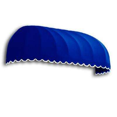 5 ft. Chicago Window Awning (31 in. x 24 in. D) in Bright Blue