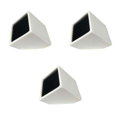 Cube 3-1/2 in. x 4 in. Matte White Ceramic Wall Planter (3-Piece)