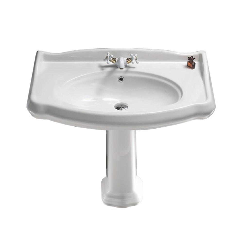 Captivating Nameeks Traditional Pedestal Sink In White