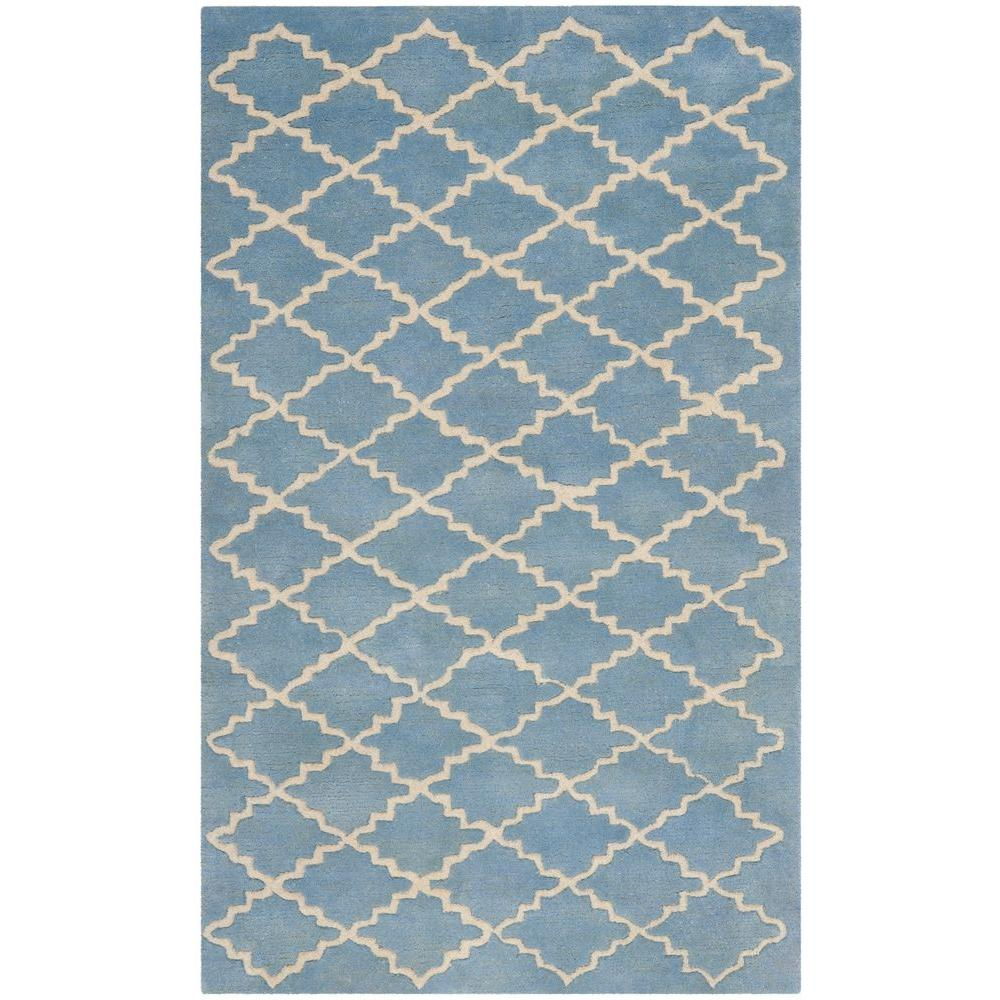 Chatham Blue Grey 4 ft. x 6 ft. Area Rug
