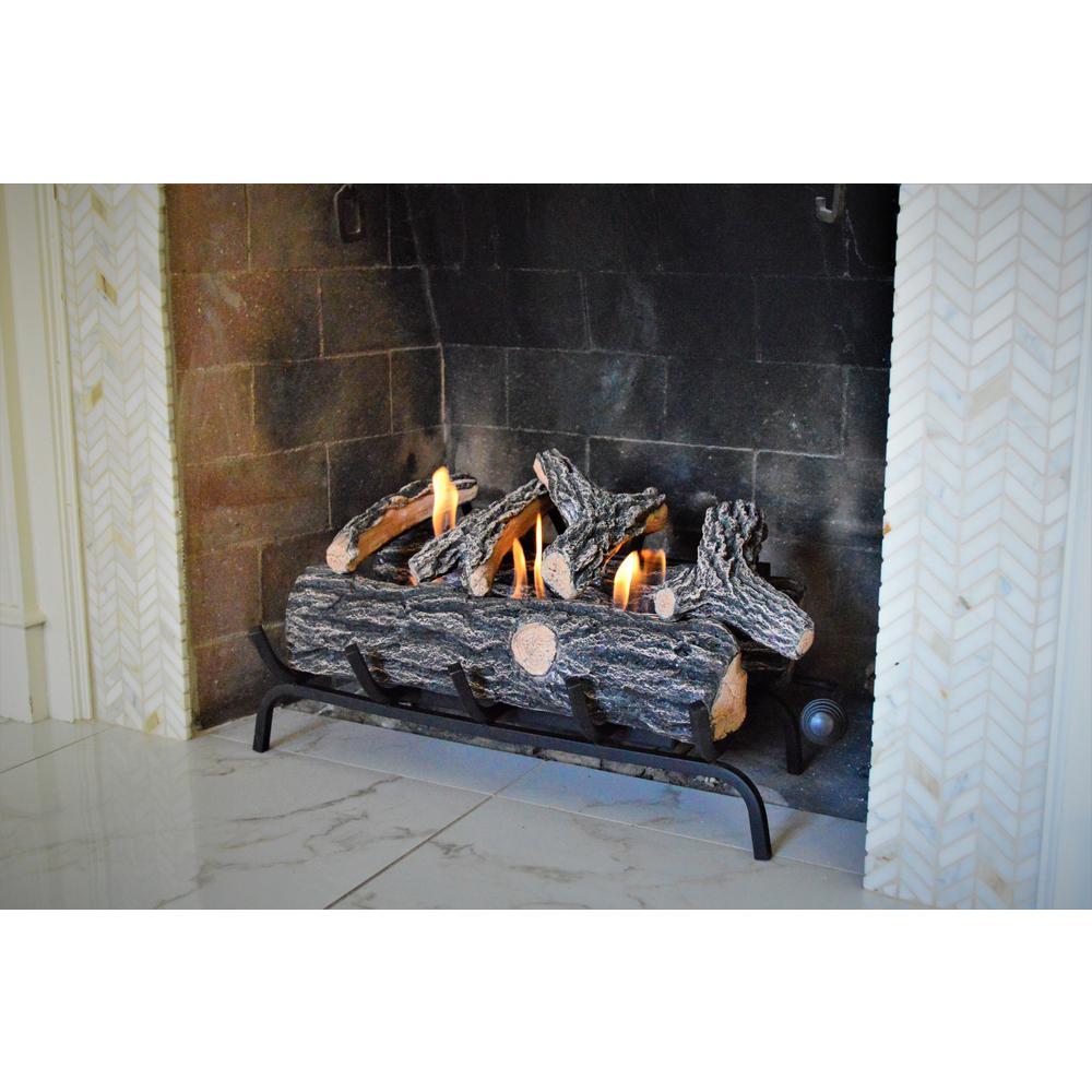 24 in. Oak Fireplace Log Set