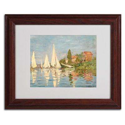 11 in. x 14 in. Regatta at Argenteuil Matted Brown Framed Wall Art
