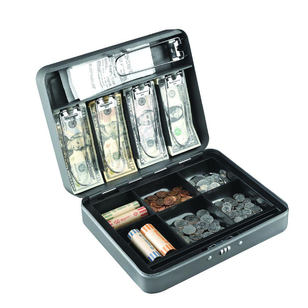 Cash Box Safe with Combo Lock