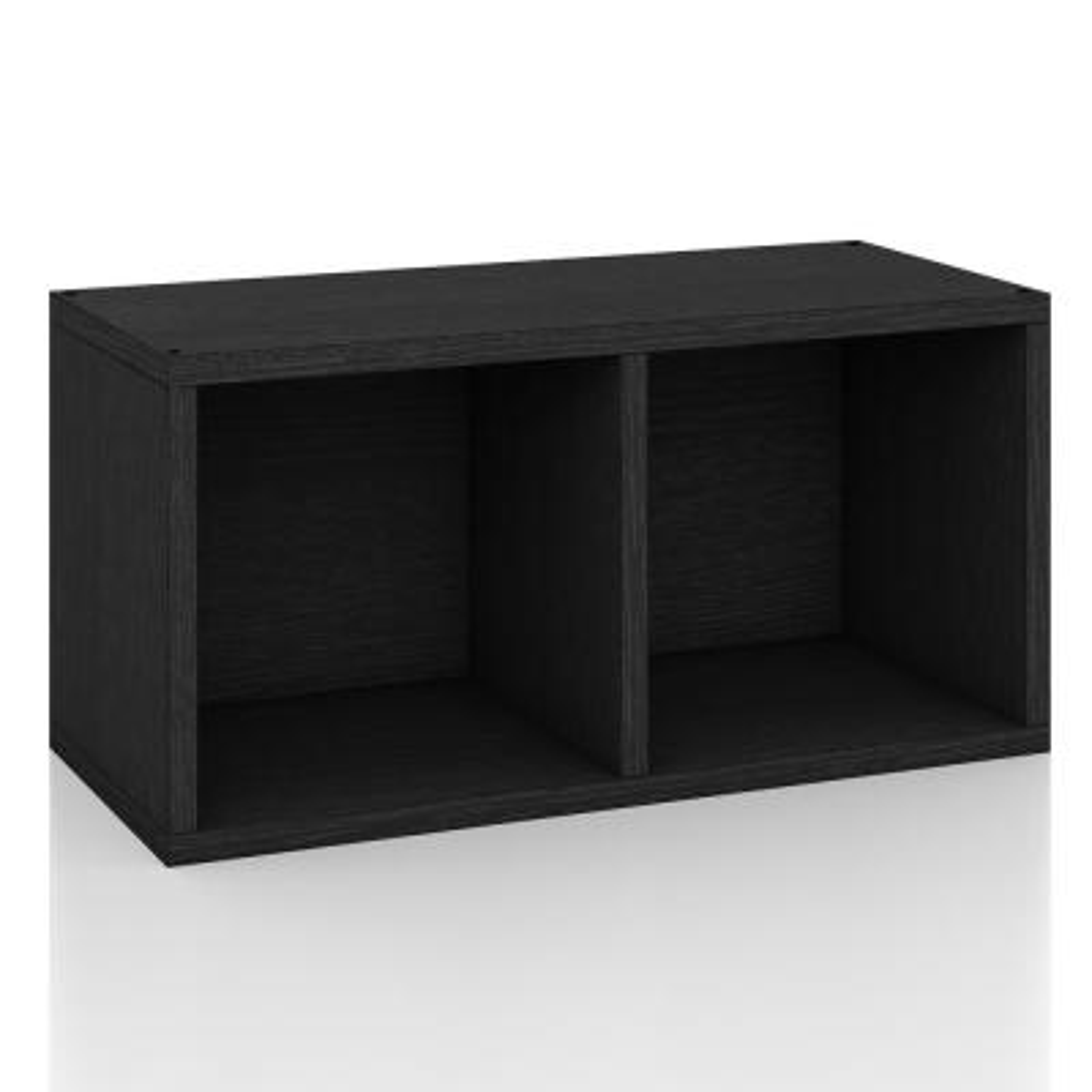 zBoard Black Stackable Open Rectangle Bookcase Shelving