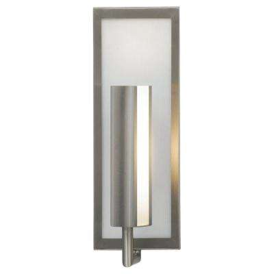Sconces lighting the home depot mila brushed steel wall sconce aloadofball Choice Image