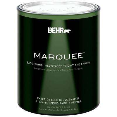 1 qt. Ultra Pure White Semi-Gloss Exterior Paint and Primer in One