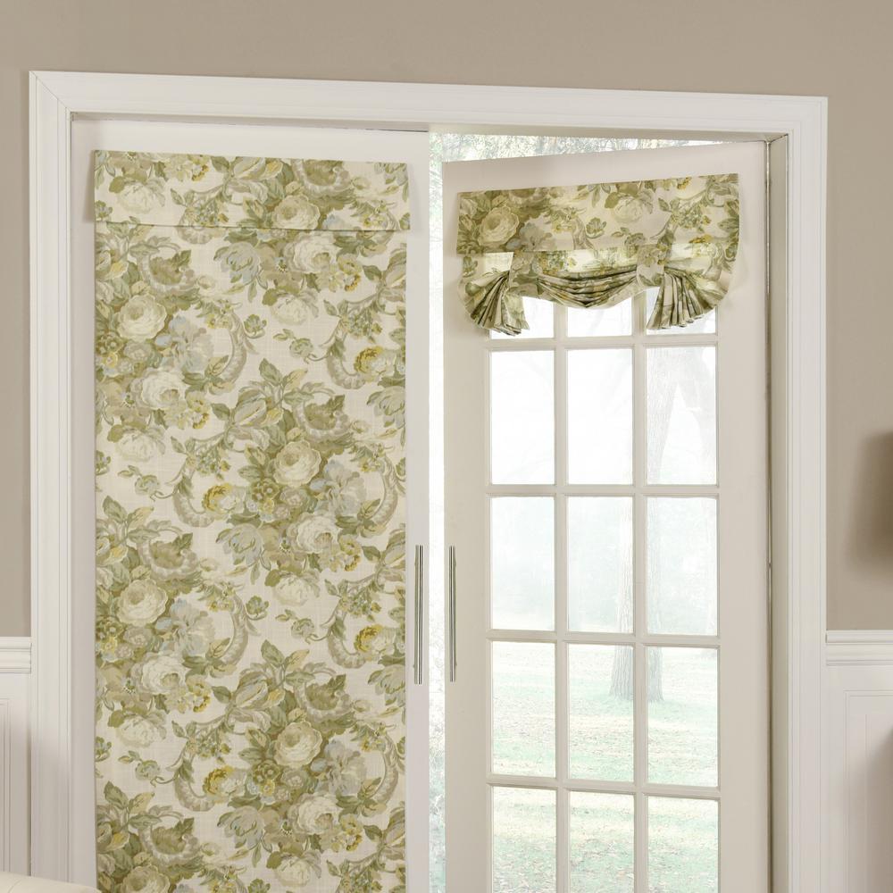 26 in. W x 68 in. L Spring Bling Window Door Panel in Platinum