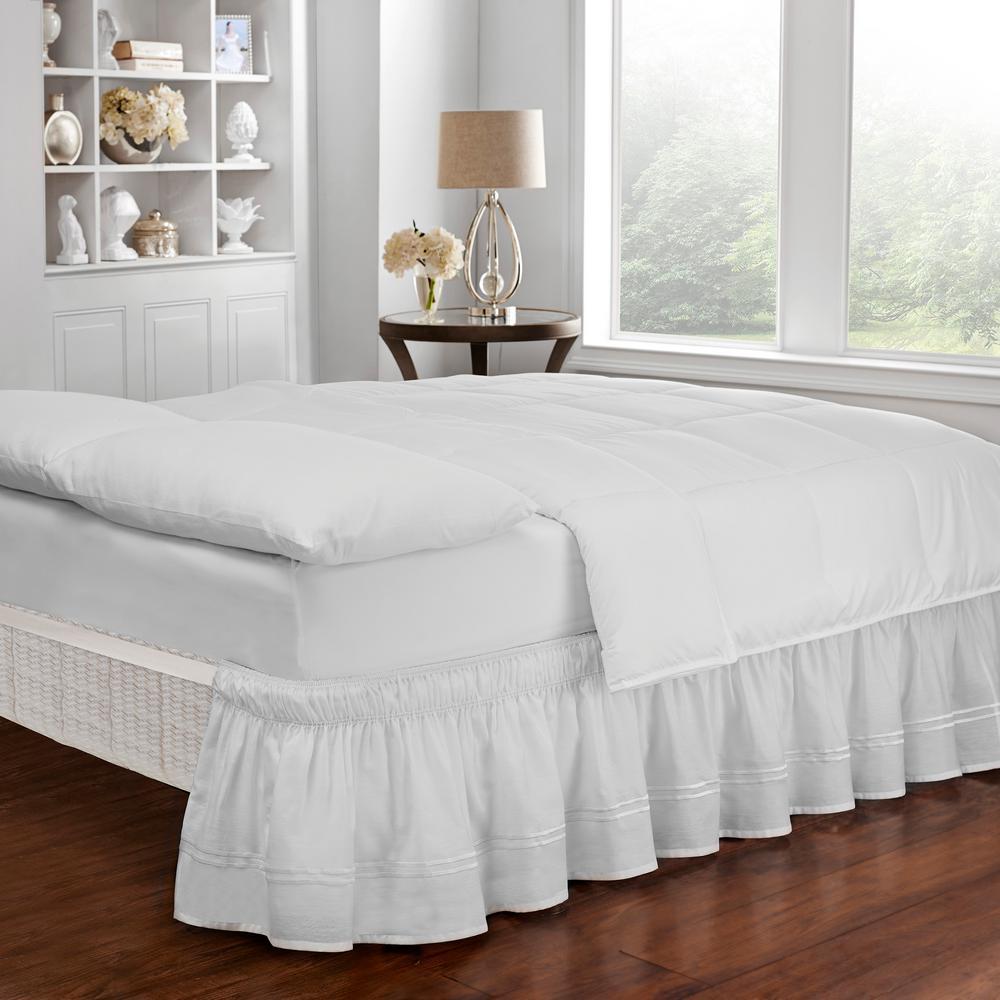 Baratta White Queen/King Bed Skirt