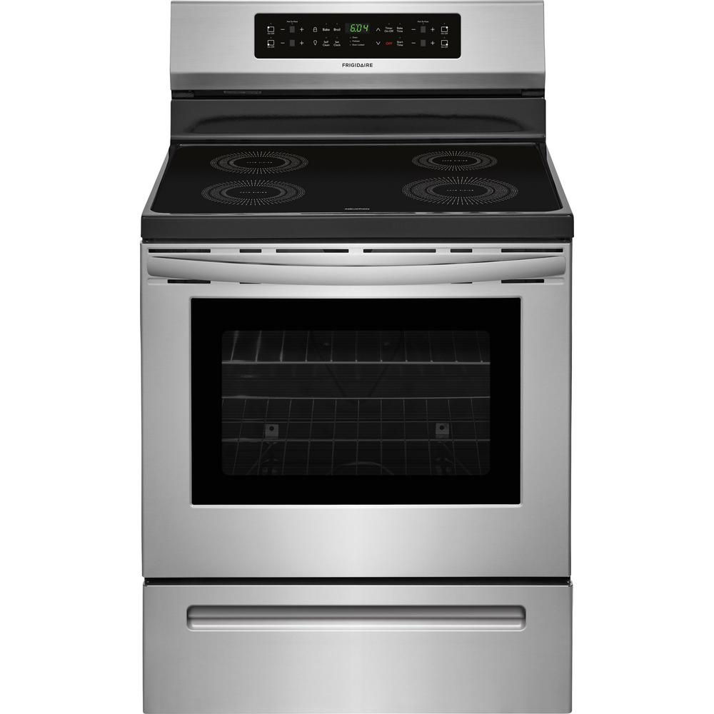 Frigidaire 30 In 5 4 Cu Ft Induction Range With Self Cleaning Oven