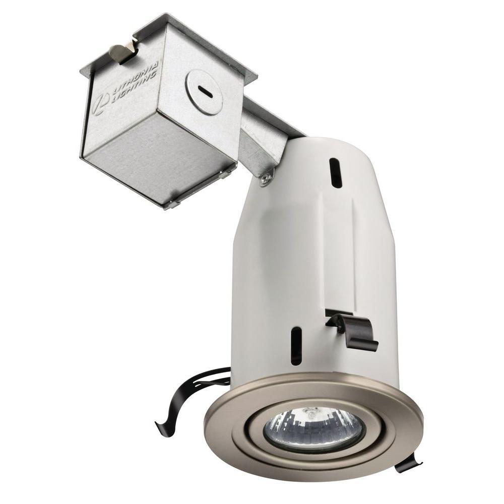 Lithonia Lighting 3 In Gu10 Nickel Gimbal Recessed Kit