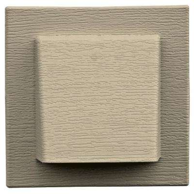 8 in. x 7.875 in. Water Management 4 in. Hooded Vent in Sandalwood