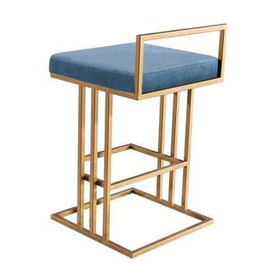 Trevi 26 in. Slub Blue Counter Stool
