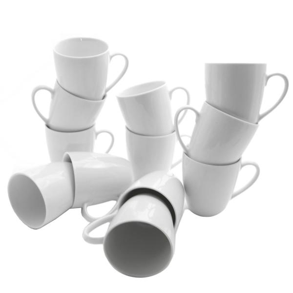 10 Strawberry Street 10 oz. White Catering Pack Mugs (Set of