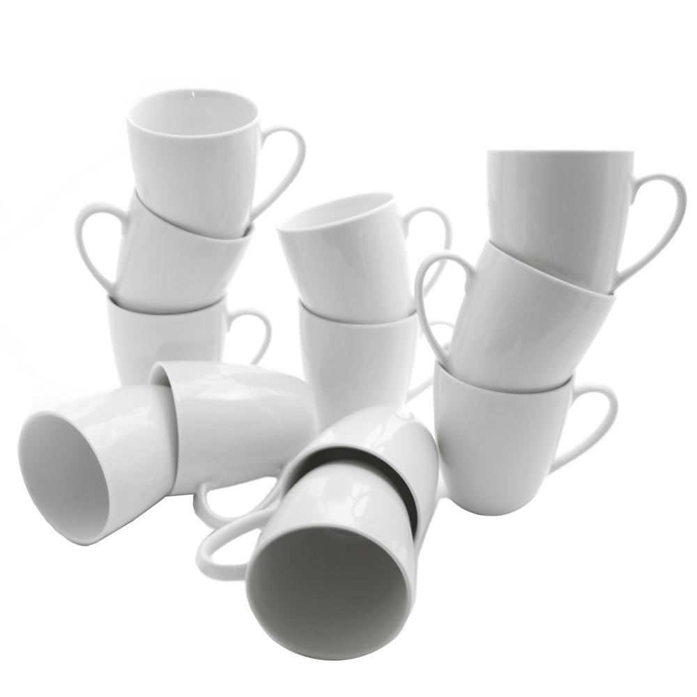 10 oz. White Catering Pack Mugs (Set of 12)