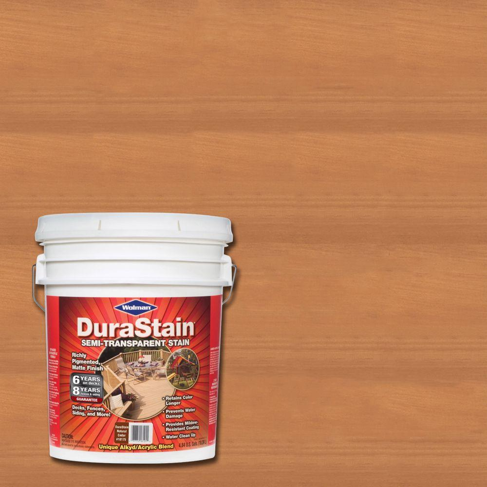 Wolman 5 gal. DuraStain Natural Cedar Semi-Transparent Exterior Wood and Deck Stain